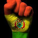 Flagge von Bolivien auf einer angehobenen geballten Faust von jeff bartels