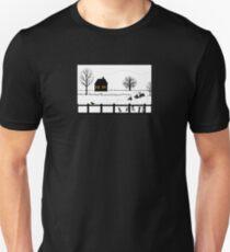 Sheep Primitive Landscape Unisex T-Shirt
