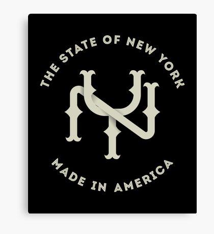 The New York State Monogram NY Canvas Print