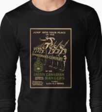 'Irish Canadian Ranger' Vintage Poster (Reproduction) Long Sleeve T-Shirt