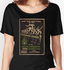 'Irish Canadian Ranger' Vintage Poster (Reproduction) Women's Relaxed Fit T-Shirt