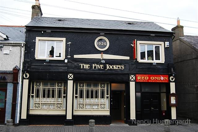Five Jockey's Pub in Kildare, Ireland by Nancy Huenergardt