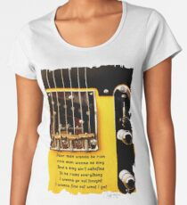 Springsteen Lyrics Tribute, Badlands. Women's Premium T-Shirt