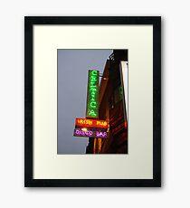Irish pub in Brussels, Belguim Framed Print