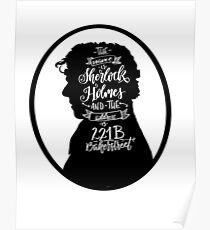Sherlock Holmes Profile  Poster