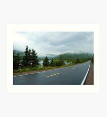 Nova Scotia Highway Art Print