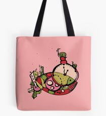 graphic time mysterious fish Tote Bag
