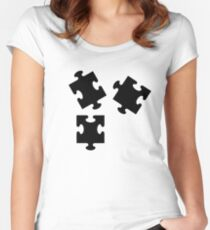 Jigsaw puzzle Women's Fitted Scoop T-Shirt