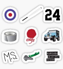 Iconic Stiles (For light colored background) Sticker