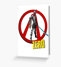 Zer0 Greeting Card