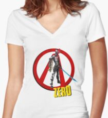 Zer0 Women's Fitted V-Neck T-Shirt