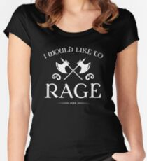 Barbarian - I Would Like To Rage Women's Fitted Scoop T-Shirt