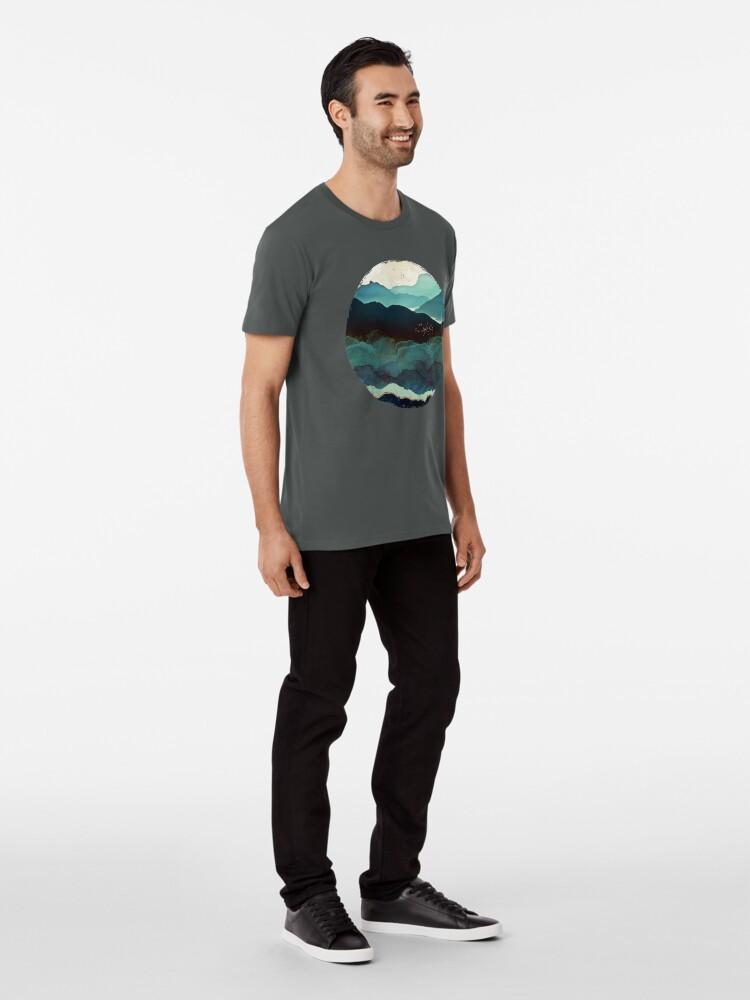 Alternate view of Indigo Mountains Premium T-Shirt