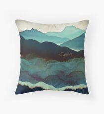 Indigo Mountains Throw Pillow
