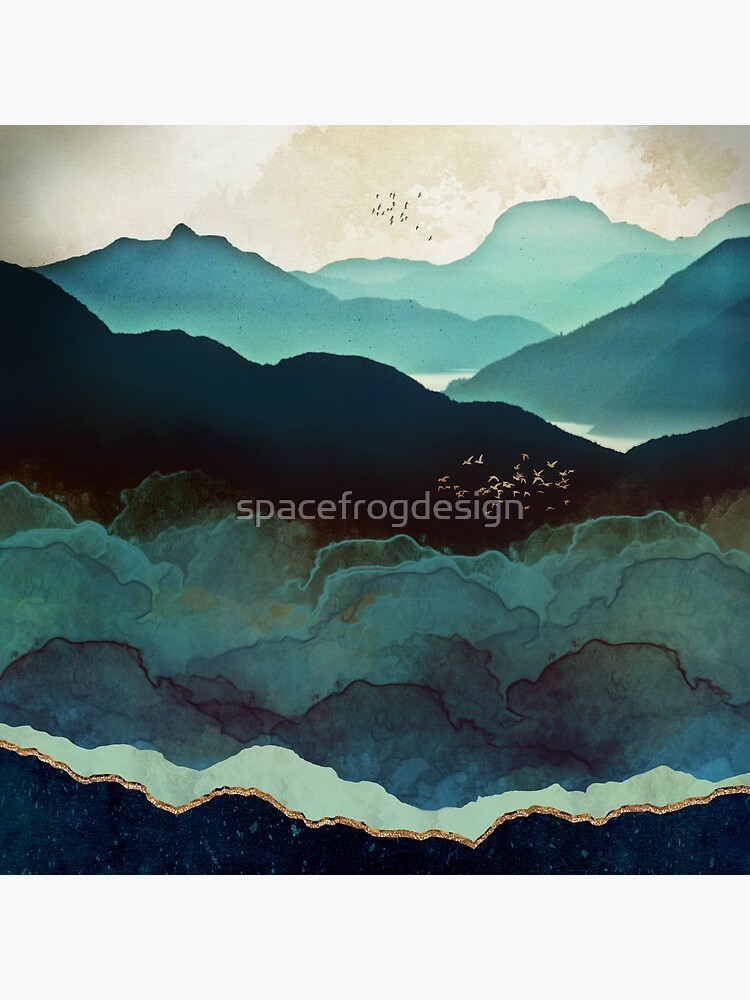 Indigo Mountains by spacefrogdesign