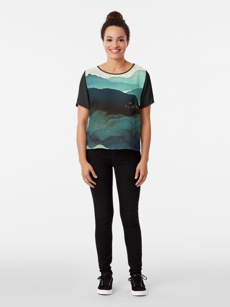 Alternate view of Indigo Mountains Chiffon Top
