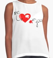 You Complete Me - Valentine Heart Contrast Tank