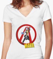 Maya Women's Fitted V-Neck T-Shirt