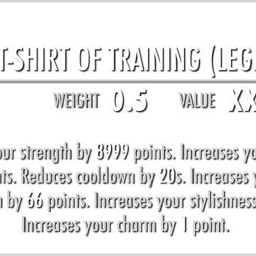 Sacred Shirt of Training (Legendary) white by m4x1mu5