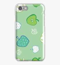 green apples pattern background iPhone Case/Skin