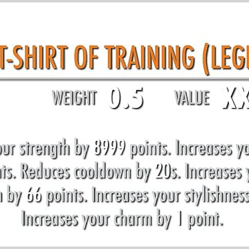 Sacred Shirt of Training (Legendary) by m4x1mu5