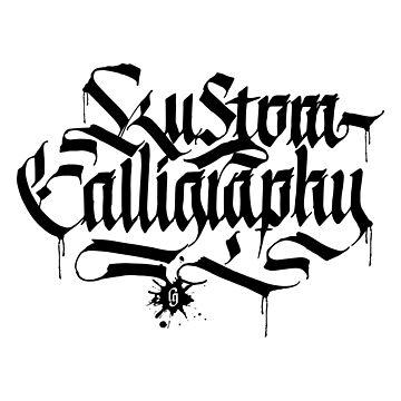 Kustom Calligraphy by LucaGiobbe
