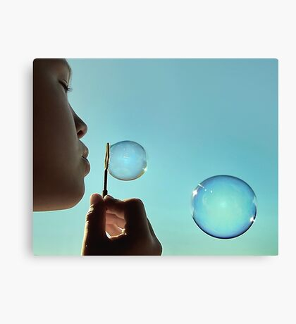 I dream of bubble Canvas Print