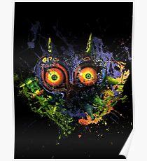 Majora's Mask Paint Splatter Poster