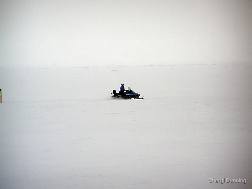 snowmobile crossing by Cheryl Dunning