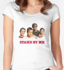 Stand by me  Tailliertes Rundhals-Shirt