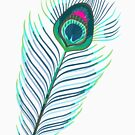 Peacock Feather II by lotuscrusade