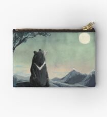 Asiatic Bear Admiring the Moon Studio Pouch