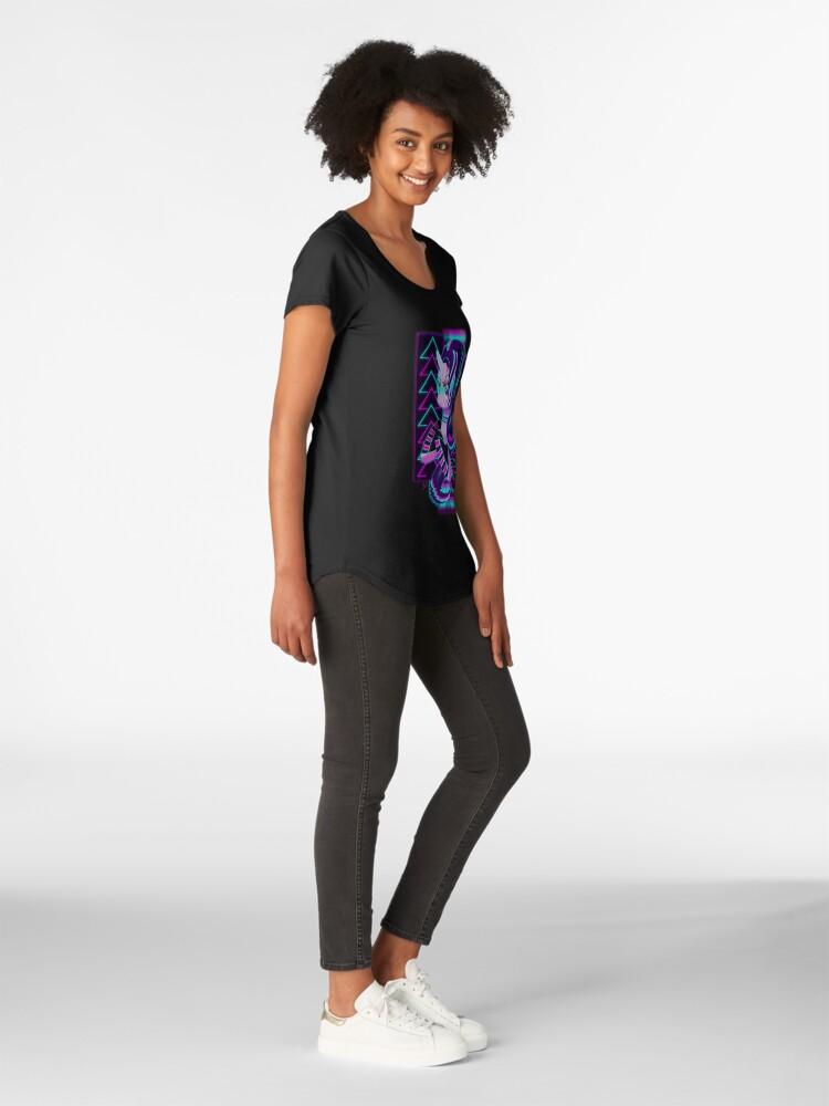Alternative Ansicht von Synthwave Starlight Glimmer Premium Rundhals-Shirt