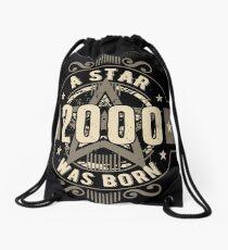 Birthday 18: 2000 a Star was born Drawstring Bag