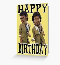 Happy Birthday Flight Conchords Greeting Card