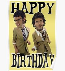 Happy Birthday Flight Conchords Poster
