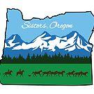 Sisters, Oregon [Alternate Design] by AshleyMakes