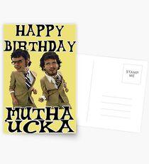 Happy Birthday Mutha Ucka Postcards