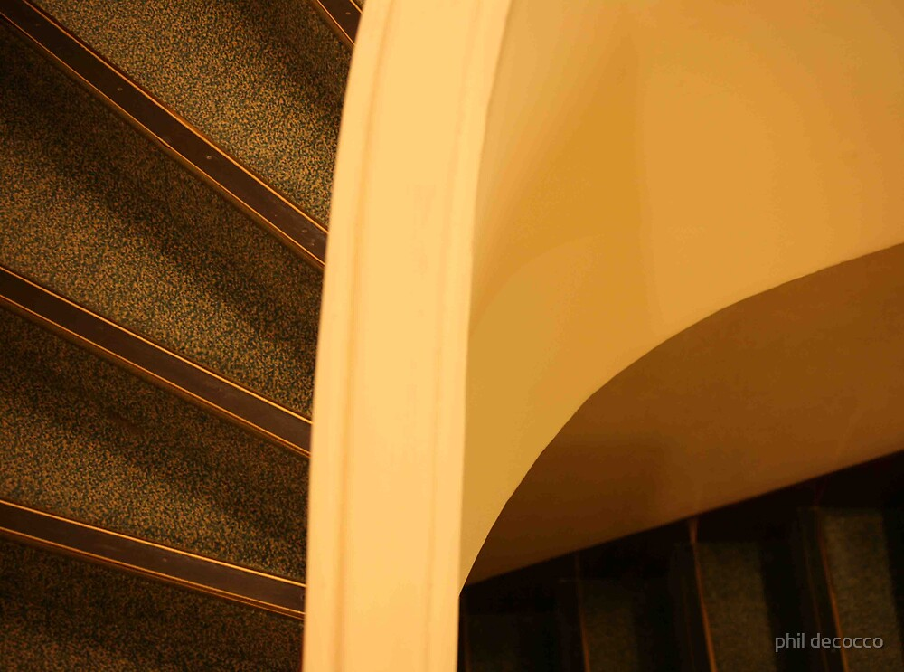 Yellow Staircase by phil decocco