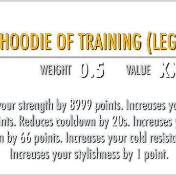 Sacred Hoodie of Training (Legendary) by m4x1mu5