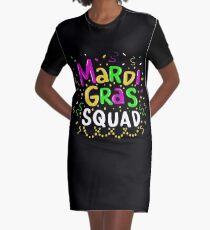 Mardi Gras Squad - Funny Mardi Gras Gift T-Shirt Kleid