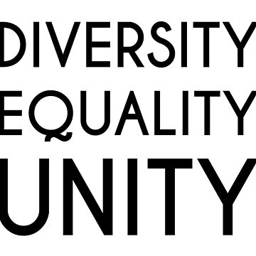Diversity, Equality, Unity by designite