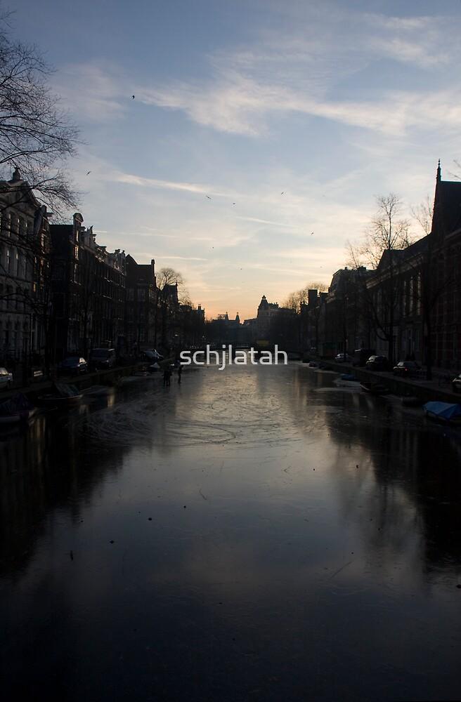 Amsterdam's Frozen Canals by schjlatah