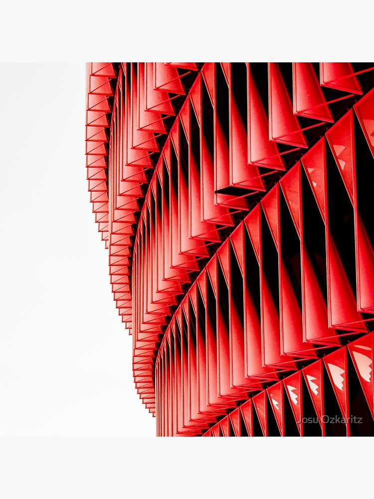 Red and white structure background design by Joshollywood