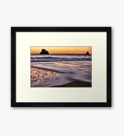 Beach Light Framed Print