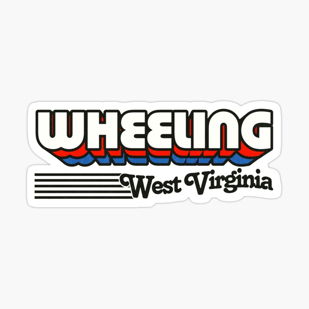 Wheeling, West Virginia   Retro Stripes Sticker