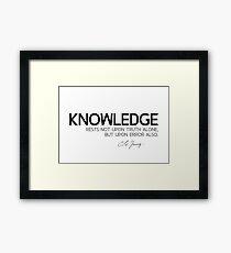 knowledge, truth, error - carl jung Framed Print