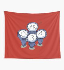 blood type cartoon t shirts Wall Tapestry