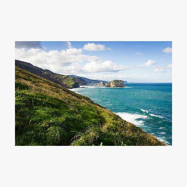 Basque Country coast landscape Photographic Print