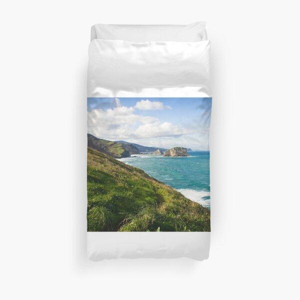Basque Country coast landscape Duvet Cover